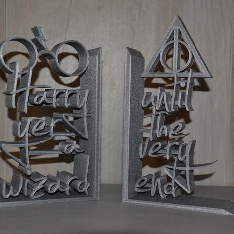 Imprimir en 3D gratis Harry Potter sujetalibros (sujetalibros Harry-Potter), GCZ3D