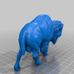 Download free STL files Bison, sjpiper145