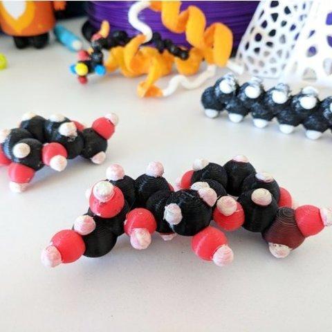 Free 3D print files Sugars / Carbohydrates / Monosaccharides & Disaccharides, sjpiper145