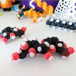 Modelos 3D gratis Azúcares / Carbohidratos / Monosacáridos y Disacáridos, sjpiper145