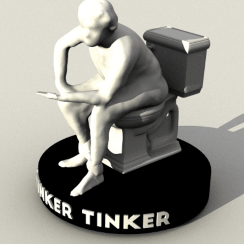 Download free 3D printer designs Stinker Tinker Trophy, sjpiper145