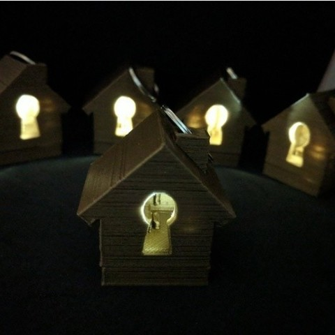 4b58342fb31d2cc249a06ee249ef94d7_preview_featured.jpg Download free STL file Light Up House Keyring • 3D printing model, sjpiper145