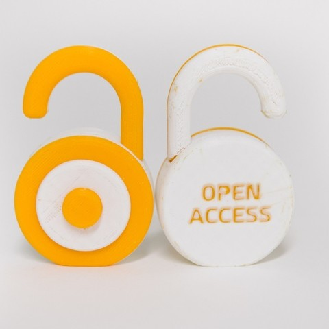 Download free STL file Open Access Logo, sjpiper145