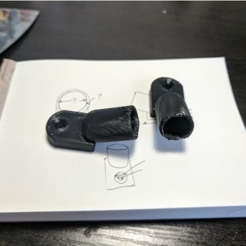 Free 3d model Mazda RX3/808 Wagon Rear Window Pole Holders, sjpiper145