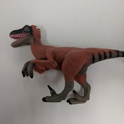 Download free STL Velociraptor Dinosaur, sjpiper145