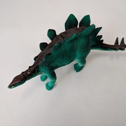Imprimir en 3D gratis Stegosaurus Dinosaurio, sjpiper145