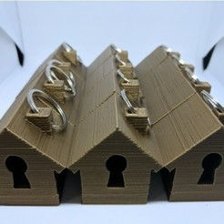 Download free 3D printing files Light Up House Keyring, sjpiper145