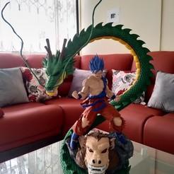 Impresion3D_DragonBall.jpg Download STL file DragonBall Goku, Shenlong and Ozaaru • 3D printable model, Darkness