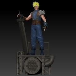 Descargar archivos 3D gratis Cloud Strife Final Fantasy 7, Darkness