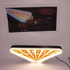 Descargar modelo 3D cartel arcade cosas extrañas, cyregalos