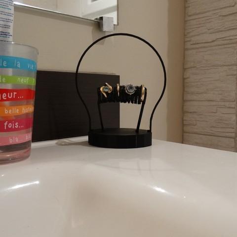 Free 3d model bulb shaped ring holder, Marhmoud