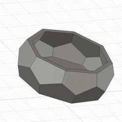 demo geometric shape v1.jpg Download free STL file Small geometric alpine pot • 3D printing template, edwardo