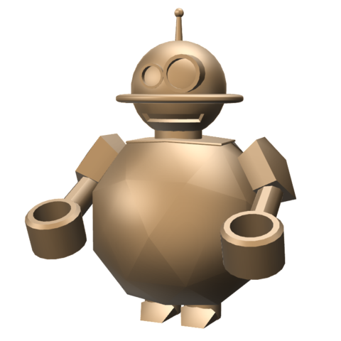 robot_1.png Download free STL file ROBOT TOOTHBRUSH (OR PEN) HOLDER • Object to 3D print, TED3D