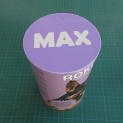 Free 3d printer designs CANNED DOG FOOD CAP, TED3D
