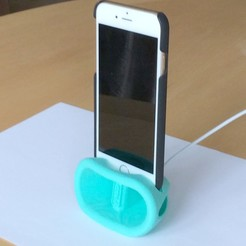 STL iPhone 6 and above Passively Amplified Dock and Stand, ChunFaiTao