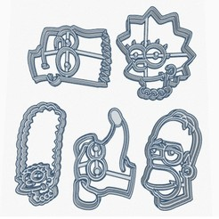 simpson.jpg Download STL file Cookie Cutter Simpson • 3D printing model, Inkimpresiones