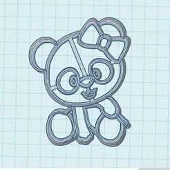 Osita panda.jpg Télécharger fichier STL Ours Panda • Objet pour imprimante 3D, Inkimpresiones
