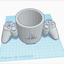 Mate PlayStation Joystick.jpg Download STL file Mate PlayStation Joystick • 3D printing design, Inkimpresiones