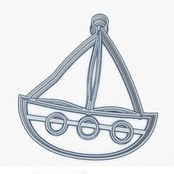 Velero.jpg Download STL file Sailboat cookie cutter • 3D printer object, Inkimpresiones