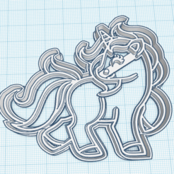 Unicornio.png Download STL file cutter cookie unicorn • 3D printing design, GustavoBasualdo