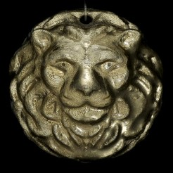 Free 3D printer designs Lion Medallion, LYTEHAUS