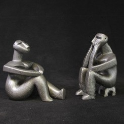 Free 3D print files Hamangia Couple, LYTEHAUS