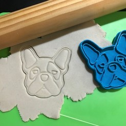 Download 3D printing templates Simones Dog Cookie Cutter. Stamp + Cutter, 12CREATIVO