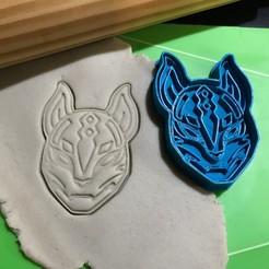 Descargar diseños 3D Cookie Cutter Fortnite Drift Mask Mascara. Cortante + Estampa., 12CREATIVO