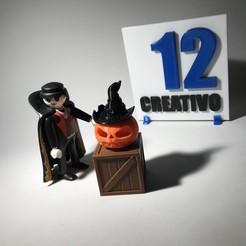 Descargar archivos 3D Calabaza Halloween Accesorio Playmobil, 12CREATIVO