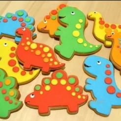 Impresiones 3D Pack Cute Dinos Cookie Cutter / Cortante, 12CREATIVO