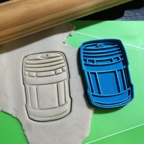 Télécharger STL Coupe-biscuits Fortnite Bidon Bouteille Plasma Fortnite. Découpe + Estampage., 12CREATIVO