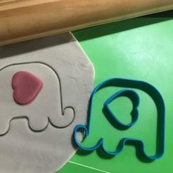 Descargar archivos STL Elefante + Corazon Cookie Cutter. Estampa + Cortante , 12CREATIVO