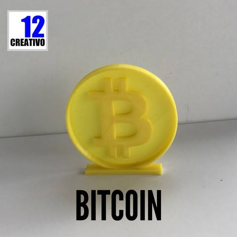 Download STL file Bitcoin Stand • 3D print template, 12CREATIVO