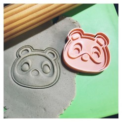 IMG_6291.JPG Download STL file COOKIE CUTTER ANIMAL CROSSING - TENDO Y NENDO (TIMMY AND TOMMY) CORTANTE + ESTAMPA. • 3D printer model, 12CREATIVO