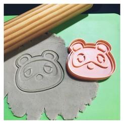 Download STL file Cookie Cutter Animal Crossing - Tom Nook. Cutter + Print. • 3D printing model, 12CREATIVO