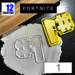 Archivos 3D Cookie Cutter Fortnite Winner #1, 12CREATIVO