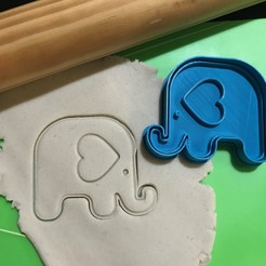 Download STL file Elephant Heart Cookie Cutter. Stamp + Cutter • Object to 3D print, 12CREATIVO