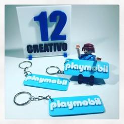 1AAAF627-5134-42C2-A90C-00C35CAE10B3 (1).JPG Télécharger fichier STL Porte-clés Playmobil Logo • Objet à imprimer en 3D, 12CREATIVO