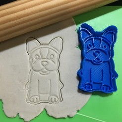 Download 3D printing files Dog Body Simones Dog Cookie Cutter. Stamp + Cutter, 12CREATIVO