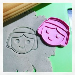 Download 3D model PLAYMOBIL WOMAN CUTTER AND MARKER COOKIE CUTTER, 12CREATIVO