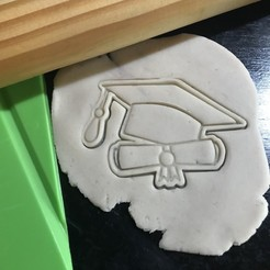 Impresiones 3D Cookie Cutter Birrete Gorro Egresado Graduation Cap, 12CREATIVO