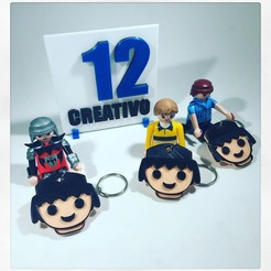 AC11F003-FDB0-4D6B-B808-0F46D04EF1C6.JPG Download STL file PLAYMOBIL FACE KEYCHAIN • Model to 3D print, 12CREATIVO