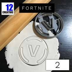 Descargar archivo 3D Cookie Cutter Fortnite V Bucks Coin, 12CREATIVO