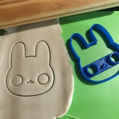 Download 3D printing templates RABBIT CUTE BUNNY RABBIT COOKIE CUTTER CORTANTE, 12CREATIVO