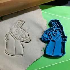 Impresiones 3D Cookie Cutter Fortnite Llama. Cortante + Estampa., 12CREATIVO