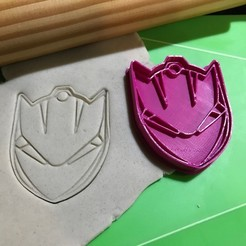 Download STL file Cookie Cutter Fortnite Lynx Mask Mask. Cutting + Stamping., 12CREATIVO