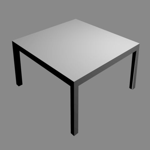 Free Basic Table 3D model, Zubbo3