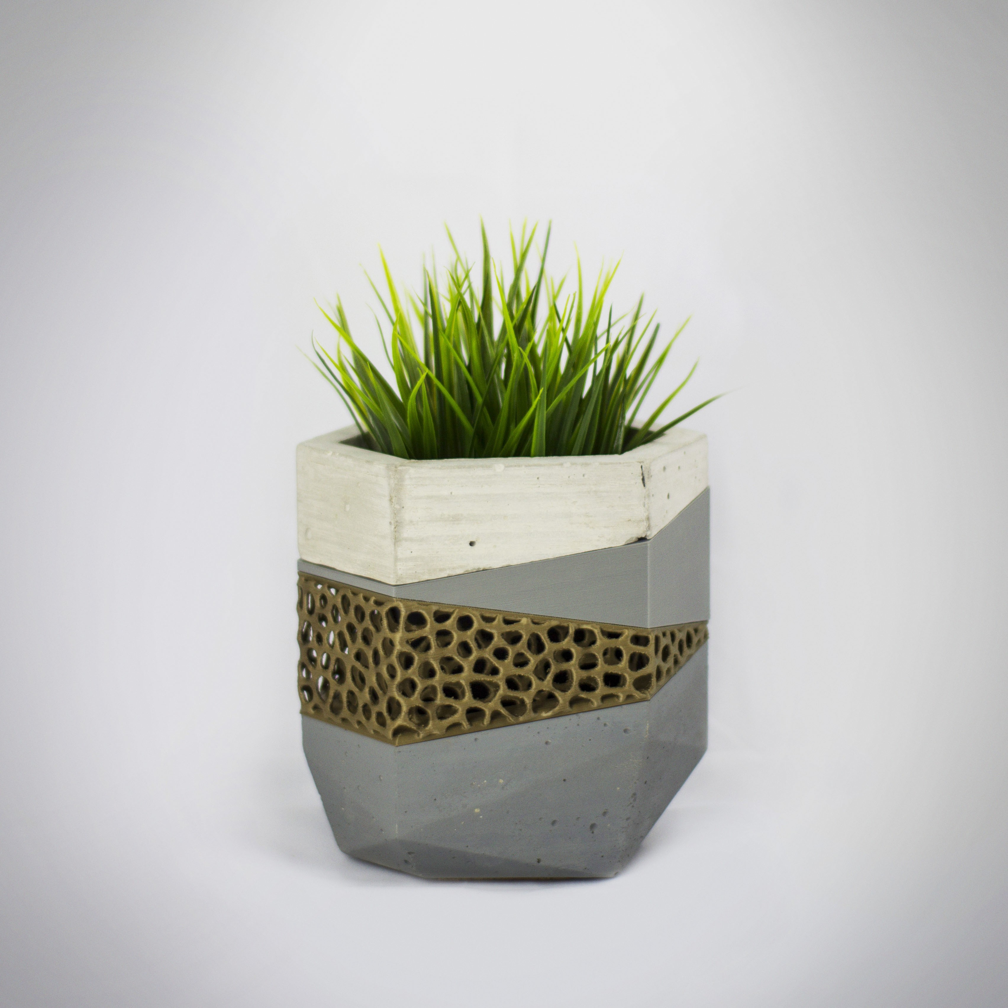 Maceteros 4 insta.jpg Download free STL file Concrete Planters Mold • 3D print model, dukedoks