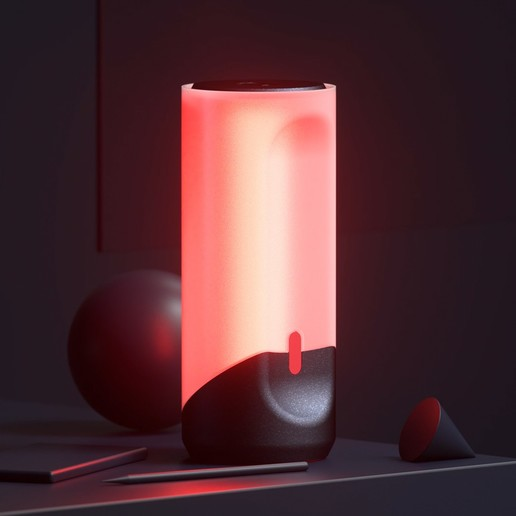Lampara Led RGB 06.jpg Télécharger fichier STL gratuit Lampe LED RGB • Objet à imprimer en 3D, dukedoks