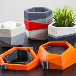 Free Concrete Planters Mold 3D printer file, dukedoks